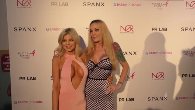Athena Bass Donna D'Errico at the Susan G Komen LA Presents 'Babes For Boobs' Live Bachelor Auction on June 08 2017 in Los Angeles California