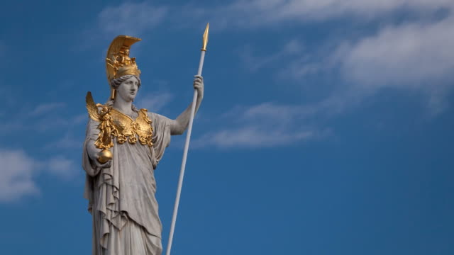 athena, goddess of greek mythology - minerva 個影片檔及 b 捲影像