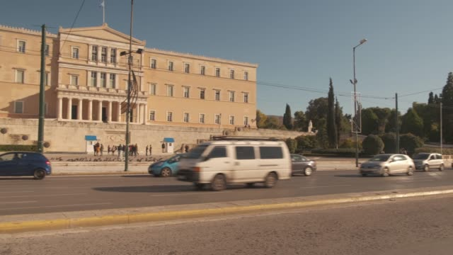 Athens 4K footage - Syntagma square and the Greek Parliament