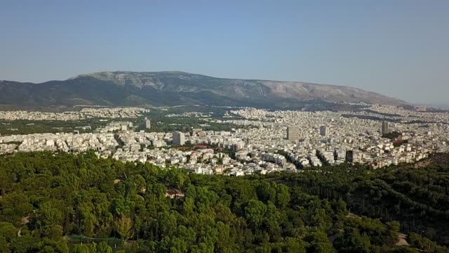 athens aerial cityscape. - parthenon athens stock videos and b-roll footage
