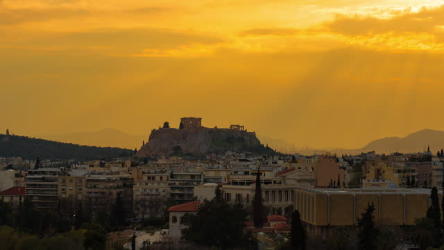 athens cityscape - acropolis athens stock videos and b-roll footage
