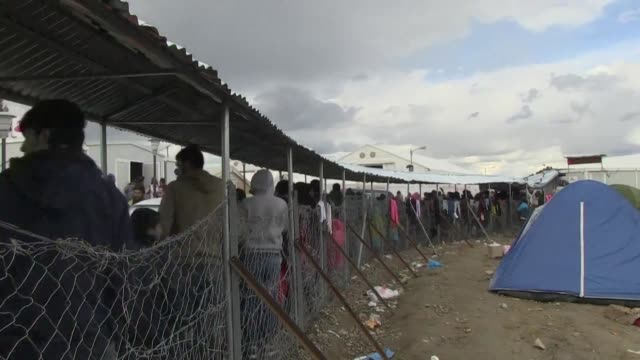 athens says it now has nearly 32000 migrants on its territory after austria and balkan states began restricting entries creating a bottleneck in... - grecia stato video stock e b–roll