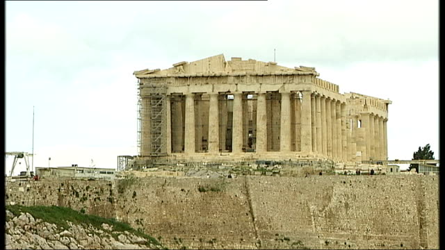 athens street scenes and ancient sites general views of the parthenon and acropolis - parthenon athens stock videos & royalty-free footage