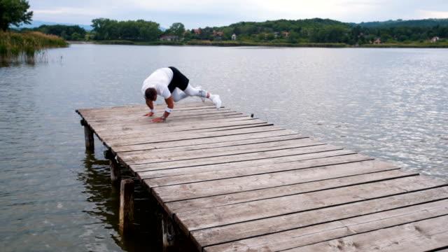 athlete doing extreme push ups - bodyweight training stock videos & royalty-free footage