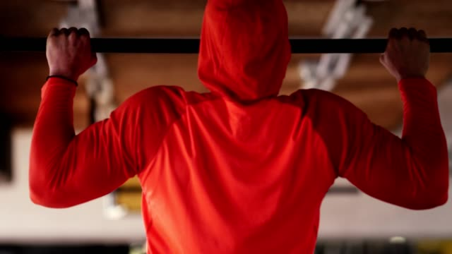 athlete doing pull ups - pull ups stock videos & royalty-free footage