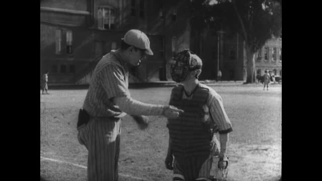 1927 Athlete (Buster Keaton) finds he lacks the skills needed for third baseman