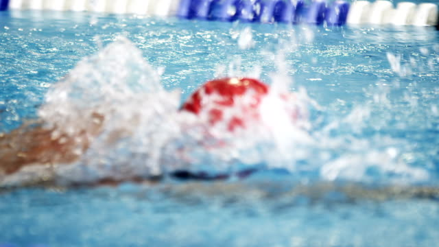 athlete in water - triathlon stock videos & royalty-free footage