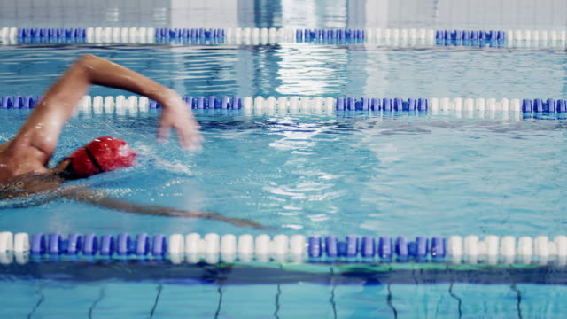 athlete in water - length stock videos & royalty-free footage