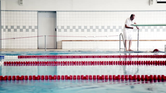 Athlete in water