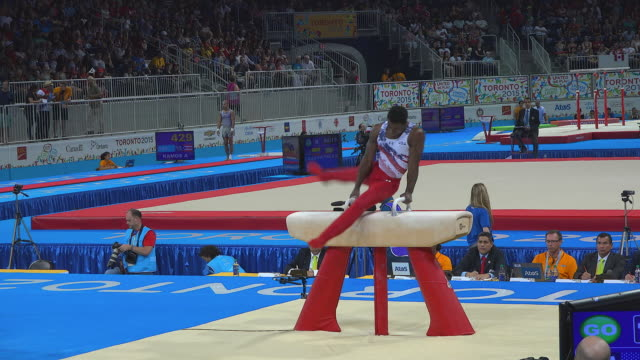 Athlete of the Team USA performing in the pommel horse The 2015 Toronto Pan American Games were a multisports event which became the largest...