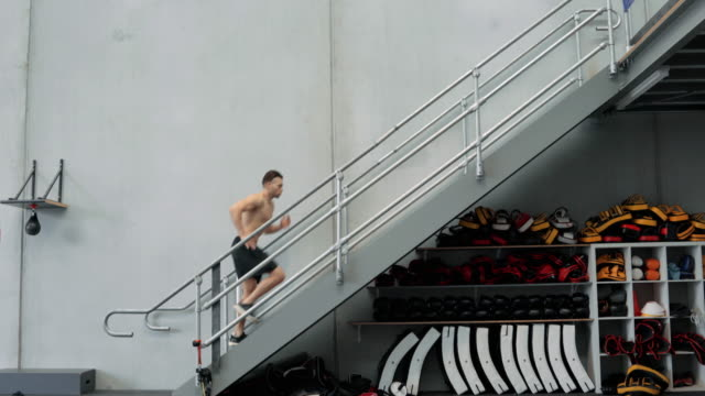 athlete training - staircase stock videos and b-roll footage