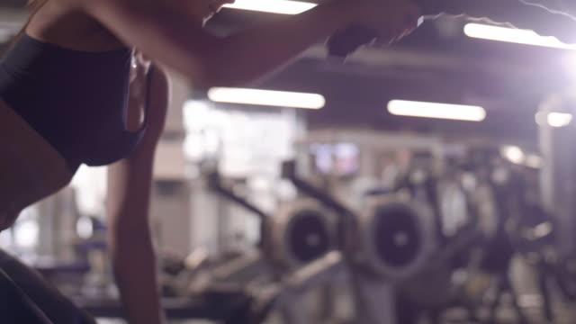 athlete training with ropes/ mielec/ poland - podkarpackie voivodeship video stock e b–roll