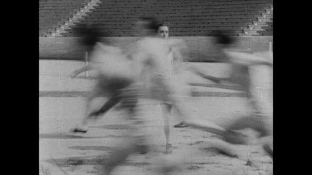 1927 Athlete (Buster Keaton) tries his hand at track