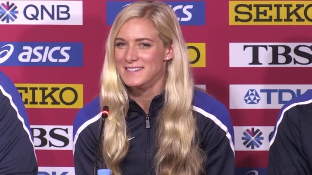 athletes from team usa at the world athletics championships in doha say they are ready to compete regardless of the conditions in qatar's heat and... - championships stock videos & royalty-free footage