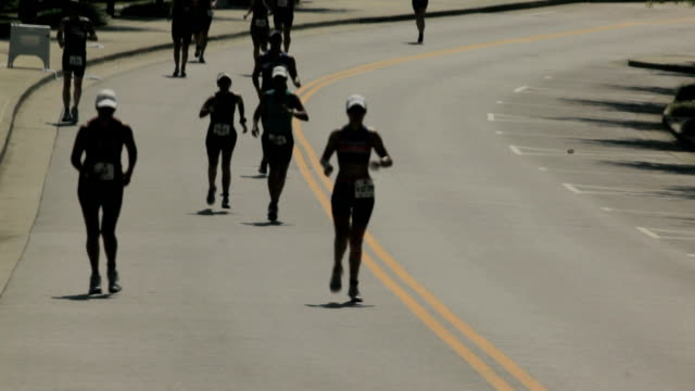 athletes long distance field running  race - race distance stock videos & royalty-free footage