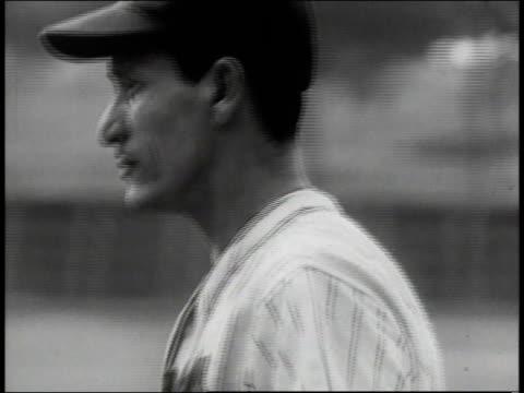 Athletes playing baseball game / New York City New York United States