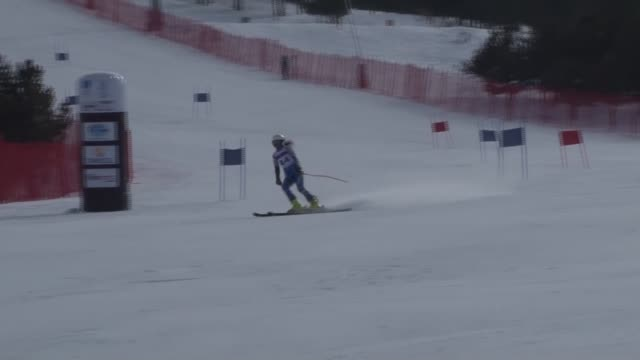athletes to compete in girls' alpine skiing during the european youth olympic festival in erzurum, turkey on february 13, 2017. - alpine skiing stock videos & royalty-free footage