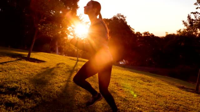 Sportieve vrouw met Slow-Motion