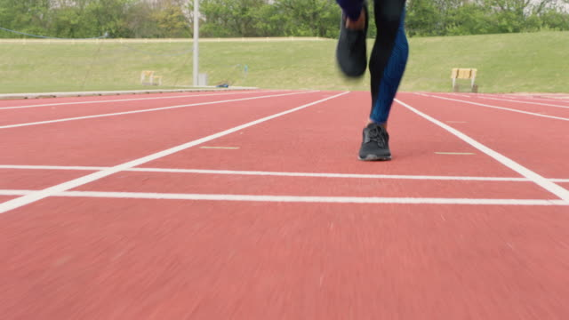 athletics - training - 陸上選手点の映像素材/bロール