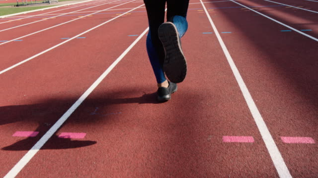 athletics - training - running track stock videos & royalty-free footage