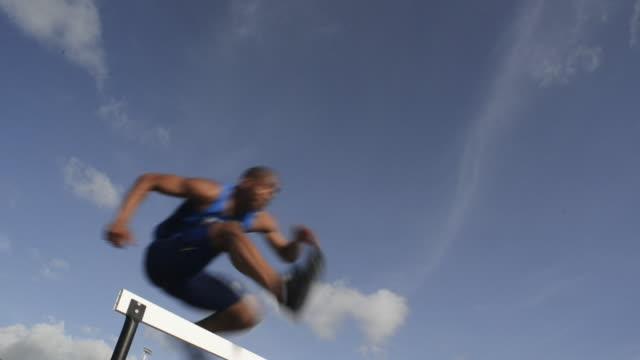 athletics - hurdle stock videos & royalty-free footage