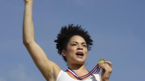 athletics - medal stock videos & royalty-free footage