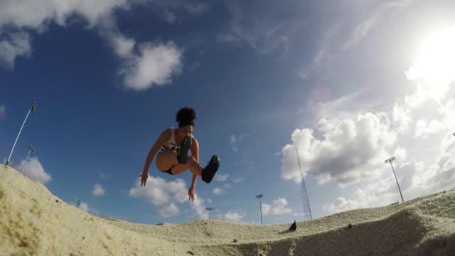 athletics - long jump stock videos & royalty-free footage