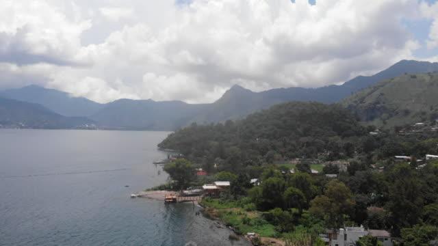 atitlan lake aerial view - guatemala stock videos & royalty-free footage