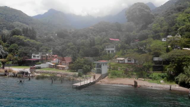 Atitlan lake aerial view