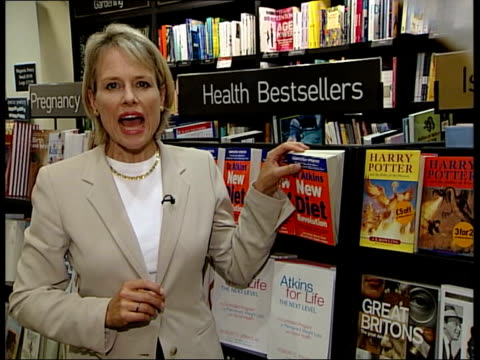 atkins diet health fears itn sian porter interviewed sot short term fix i/c - porter stock videos & royalty-free footage