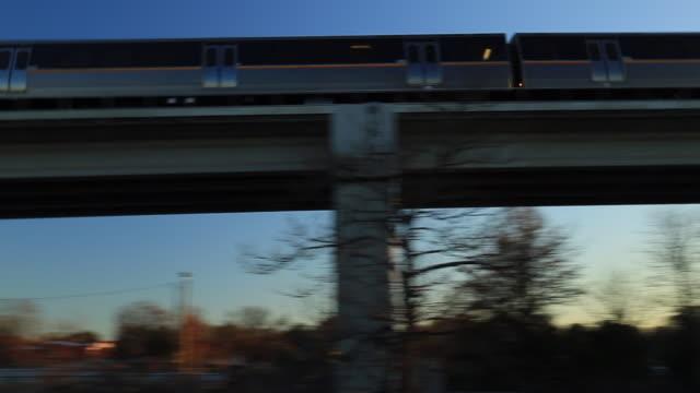 Atlanta Elevated Subway Train with Pan