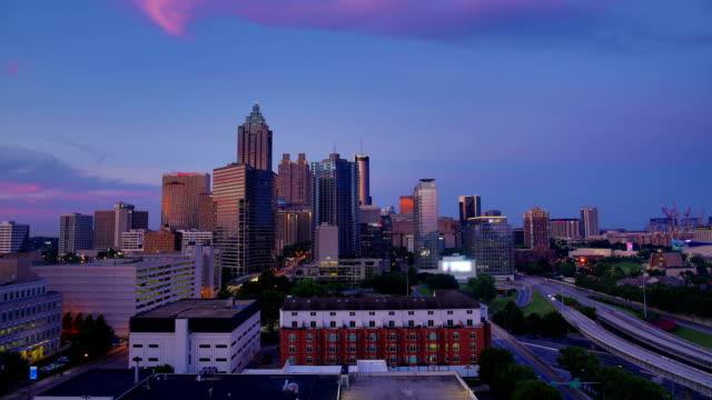 Atlanta, GA : Day to night time lapse
