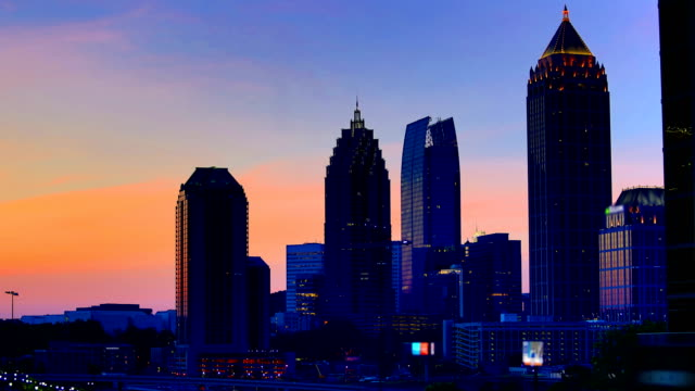 atlanta, ga - urban skyline stock videos & royalty-free footage