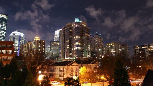 atlanta georgia urban city night time lapse - downtown stock videos & royalty-free footage