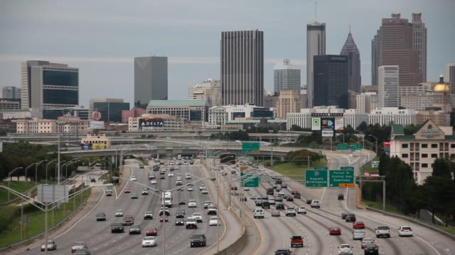 atlanta skyline day - american interstate stock videos & royalty-free footage