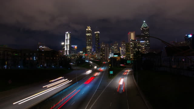 t/l atlanta skyline - georgia us state stock videos & royalty-free footage