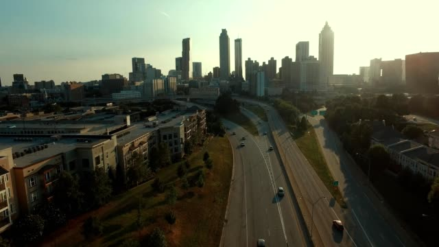 vidéos et rushes de atlanta skyline - atlanta