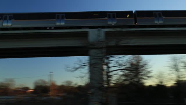 atlanta subway train with pan - railway track stock videos & royalty-free footage