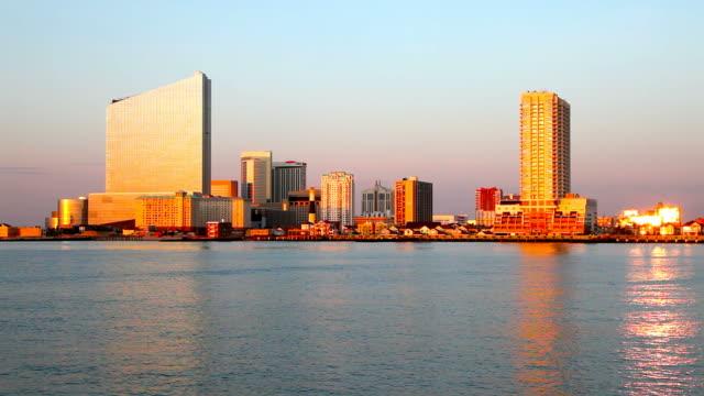 vídeos de stock, filmes e b-roll de atlantic city, new jersey - atlantic city