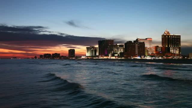 atlantic city - water's edge stock videos & royalty-free footage
