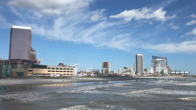 atlantic city - shallow stock videos & royalty-free footage