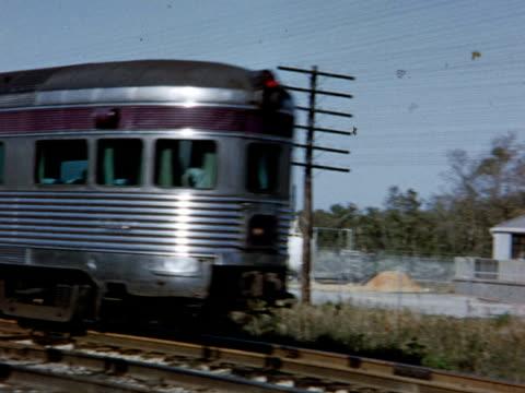 1954 ms pan ws atlantic coast line train, usa - 1954 stock videos and b-roll footage