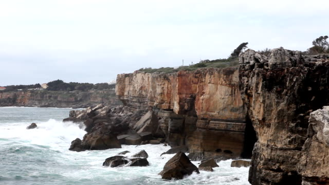 atlantic ocean (hd) - cascais stock videos and b-roll footage