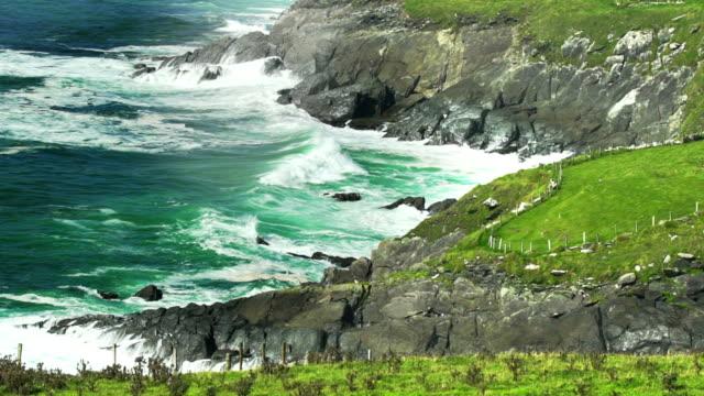SLO MO Atlantic Waves Breaking At Coumeenoole Bay In Ireland