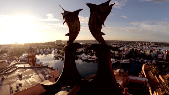 Atlantis swordfish drone shot at sunset