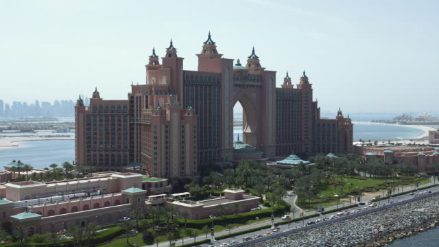 Atlantis, the Palm, a luxury resort built on the Palm Jumeirah in Dubai.