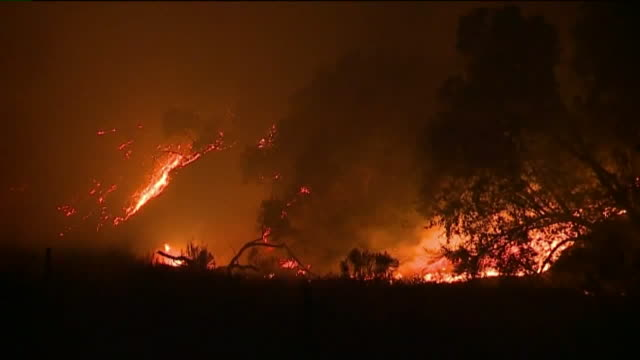 atlas fire in napa valley. - northern california stock videos & royalty-free footage