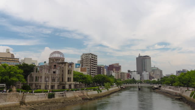 vidéos et rushes de t/l,atmic bomb dome. - hiroshima prefecture
