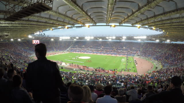 Atmosfere at Stadio Olimpico in Rome Italy on May 14 2017 before Serie A Match between AS Rome v Juventus FC