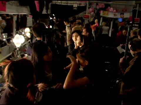 Atmosphere and models Backstage at Betsey Johnson Fall 2006 at the Olympus Fashion Week Fall 2006 Betsey Johnson Backstage and Runway at the...